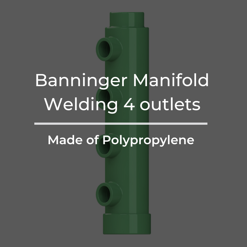 Manifold Welding 4 outlets