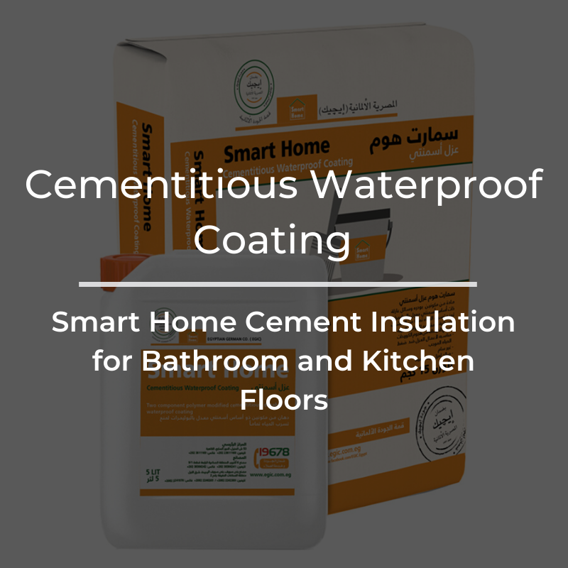 Smart Home Cementitious Waterproofing